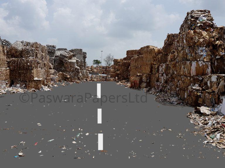 waste paper stock yard