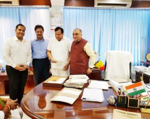 Directors meet with UP Chief Secretary Shri Anup Chandra PandeyJi